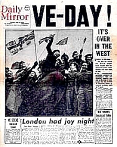 V-E Day - London Mirror - VE Day