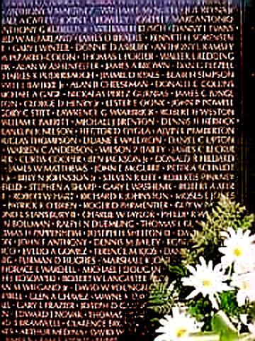 Panel 1 (1959 on) Vietnam Wall