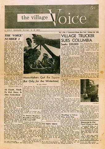 The Village Voice 1955 Cover