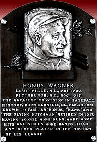 Honus Wagner's Hall of Fame plaque