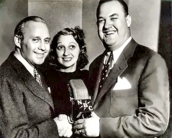 Don Wilson with Jack & Mary Benny