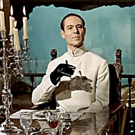 Actor Joseph Wiseman as Dr. No