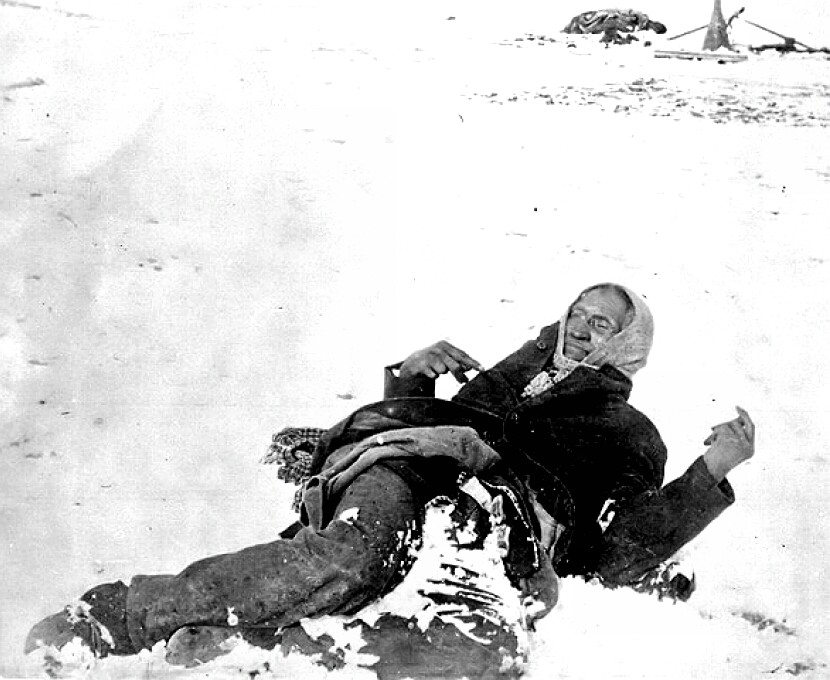 Wounded Knee - Chief Big Foot lies dead