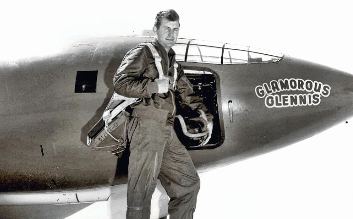 Chuck Yeager with the X-1 Plane